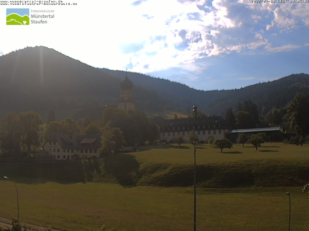 Webcambild von Münstertal, Kloster St. Trudpert